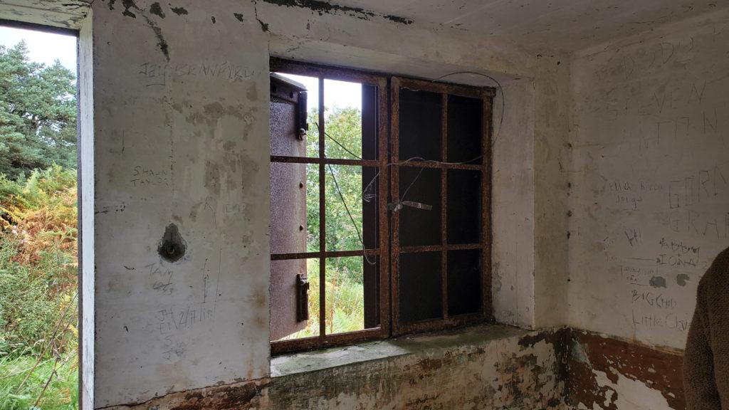 rusty window