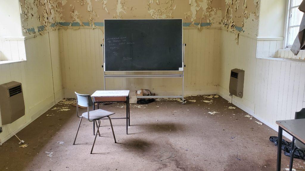 classroom abandoned