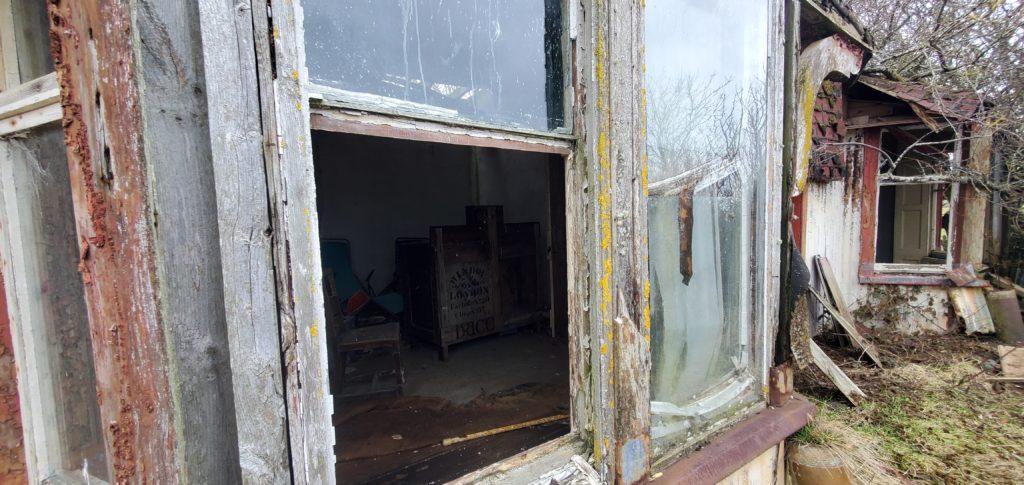 window on the farmhouse