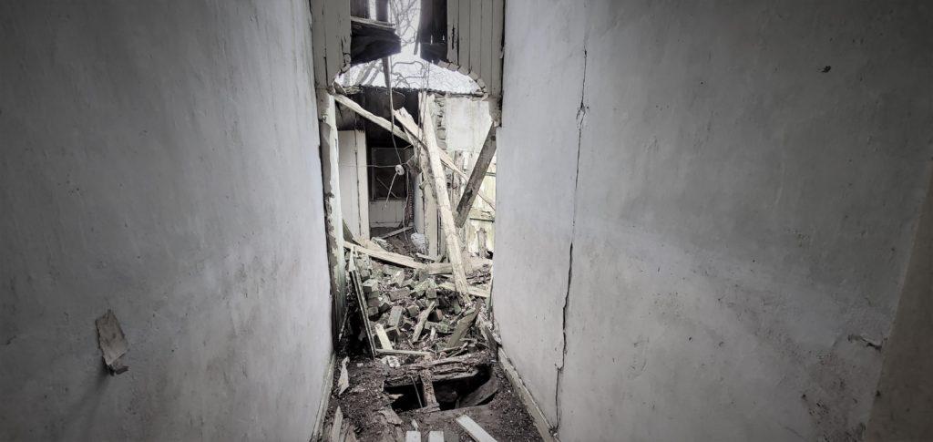 hallway falling apart
