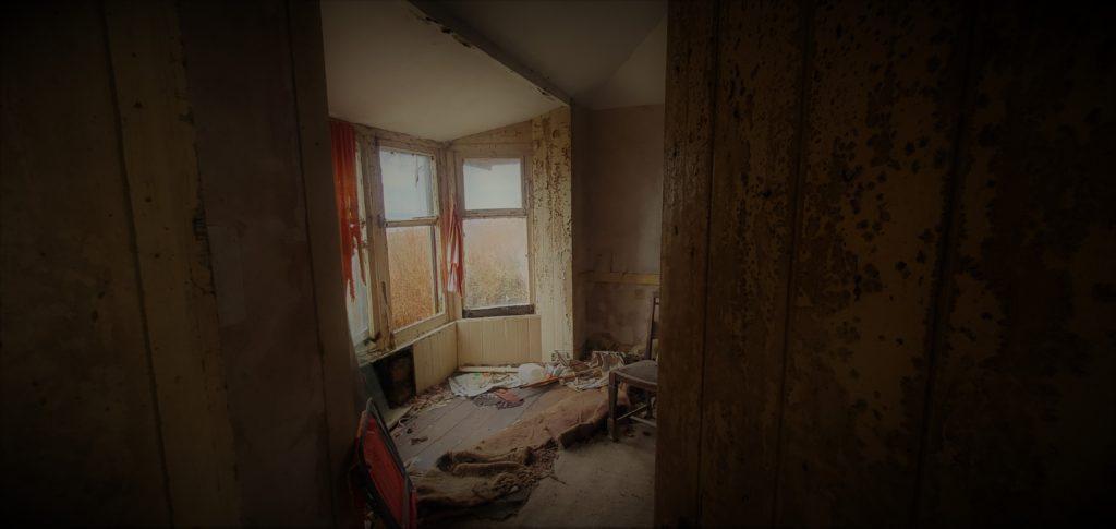 abandoned old farmhouse