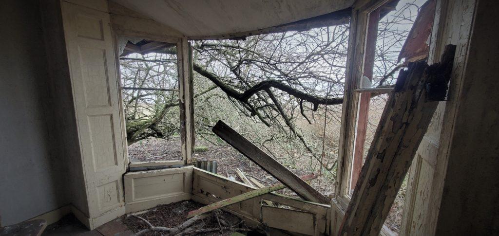 farmhouse window