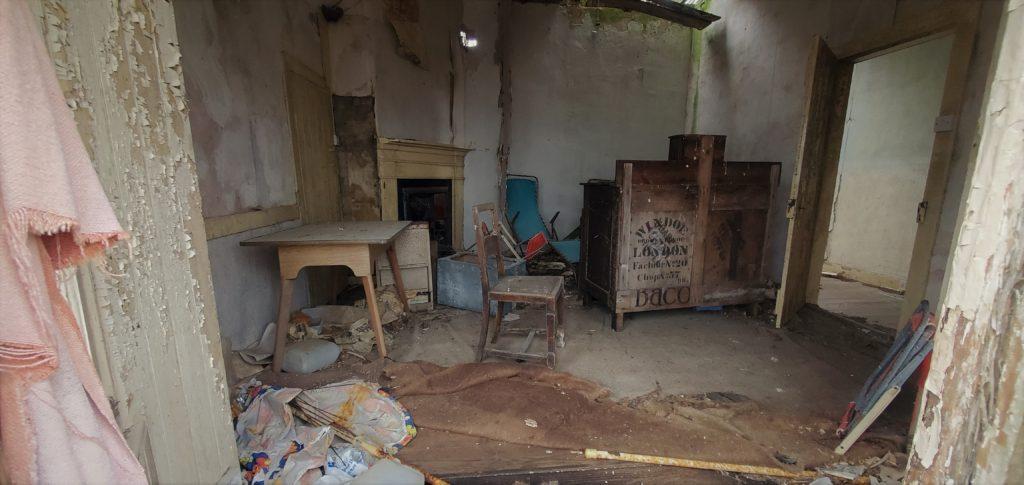 inside of old farmhouse