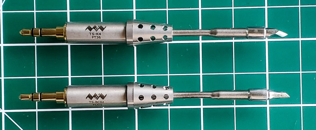 The full tips for swapping in the solder iron.