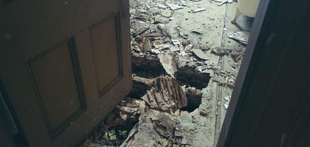 damaged floors