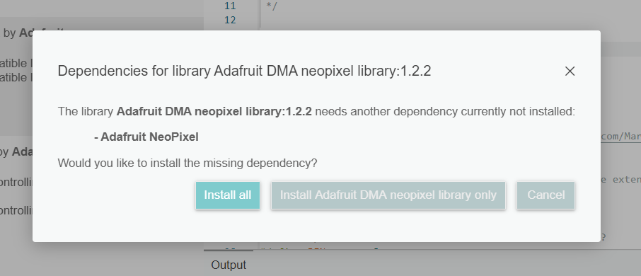 installing all dependencies